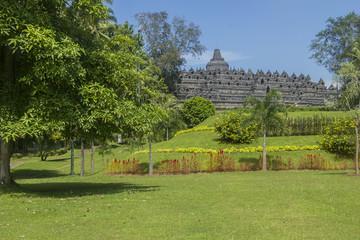 Borobodur - buddhist temple in Indonesia.