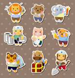 animal worker stickers
