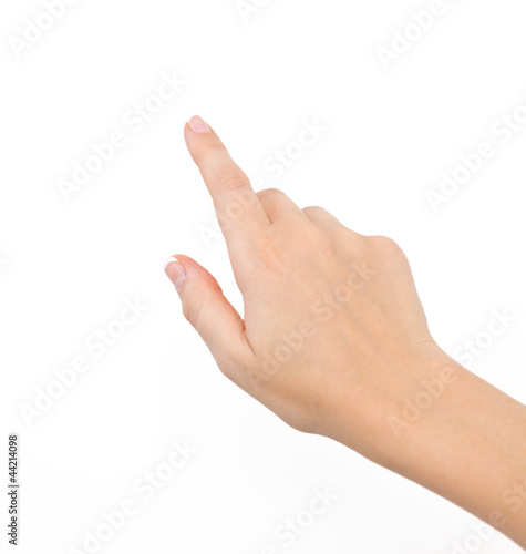 female hand on the isolated background - 44214098