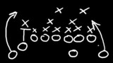 American football field tactics animation