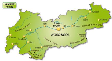Übersichtskarte von Tirol