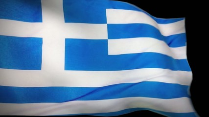 greece flag wiper animation with alpha