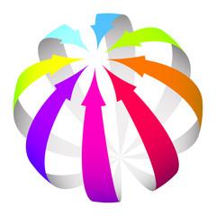 Vector arrows icon
