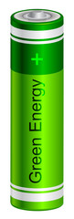 Vector illustration of  green battery