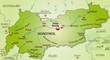 Übersichtskarte von Tirol und Umgebung