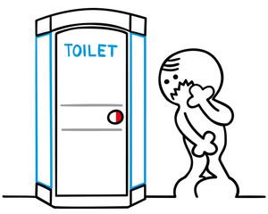 figur muss dringend auf toilette
