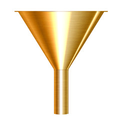 Vector illustration of gold funnel