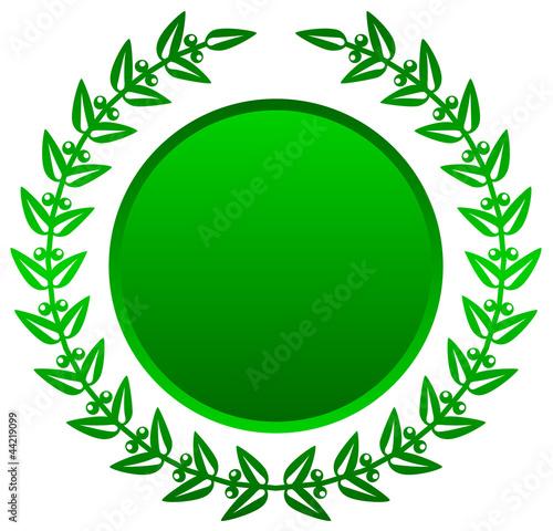 Vector illustration of green laurels