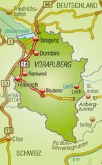 Umgebungskarte von Vorarlberg