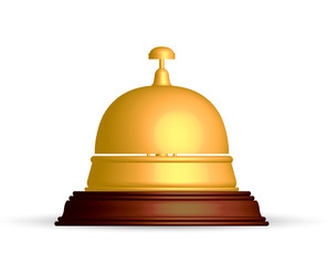 Vector illustration of gold reception bell