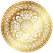 Vektor-Illustration von gold Orientteppich / Serviette