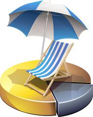 Statistiques en or sur les vacances (détouré)