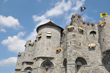 Medieval Castle in historical center of Ghent city