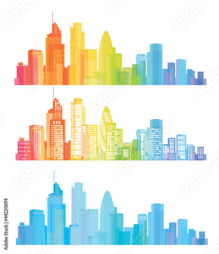 Vector of colorful London skyline