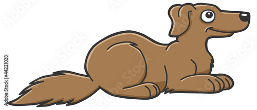 illustration of a cute brown dog