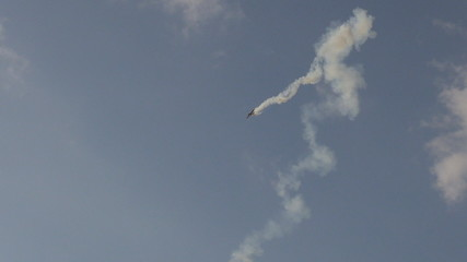 Acrobatic airplane performing
