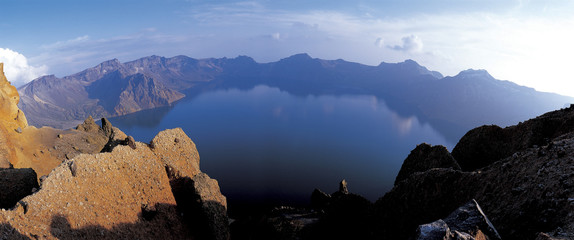 the crater lake on the top of Mt. Baekdu