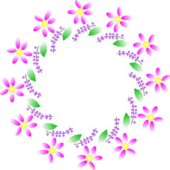 Vector illustration of flower wreath