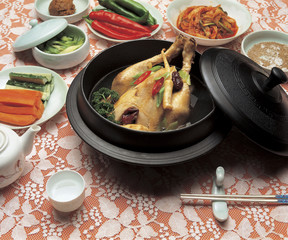 Korean Ginseng chicken soup, Samgyetang