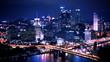 Pittsburgh Skyline Time Lapse Night