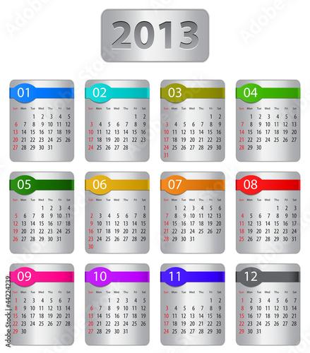 Calendar for 2013 year