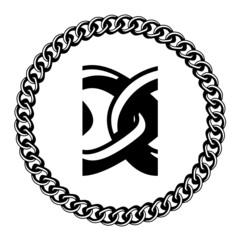 vector chain jewel seamless silhouette