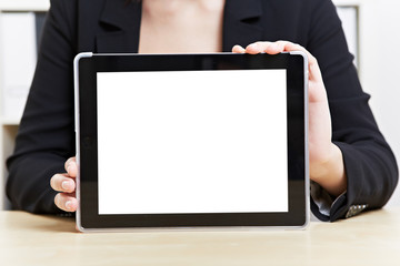 Touchscreen eines Tablet Computers