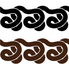 vector snake seamless silhouettes