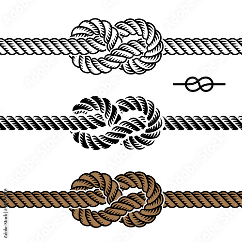 Rope Logo Vector Vector Black Rope Knot