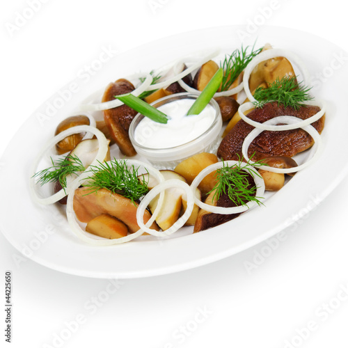 white mushrooms pickled