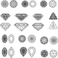diamond design elements - cutting samples