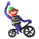 Plasticine monkey on the bicycle