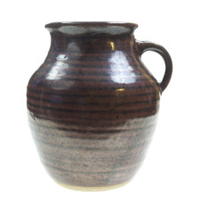 Old Pottery Jug Front View