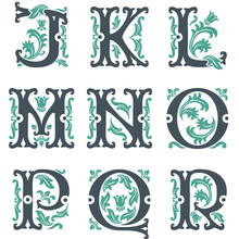 alphabet vintage. Partie 2