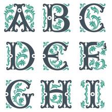 Vintage Alphabet. Teil 1