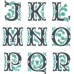 vintage alphabet. Part 2