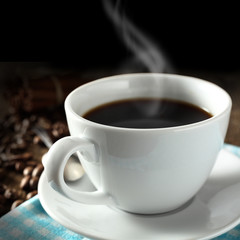 coffee and dark background