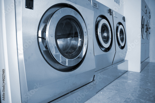 industrial washing machines in Commercial Laundromat