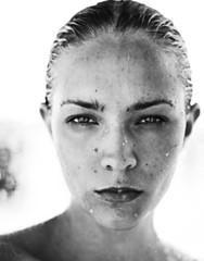 Beautiful women liquid face drop water