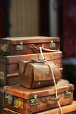 vintage suitcases, trunks