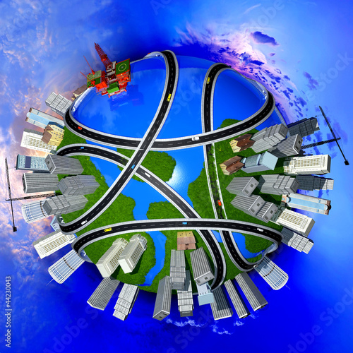 Foto op Plexiglas Op straat Model of the globe