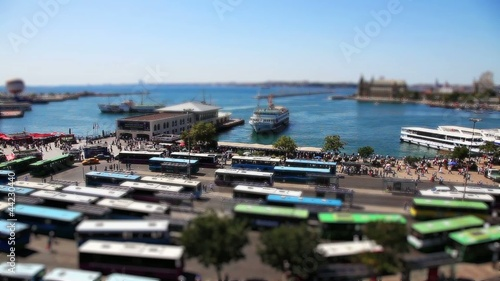 miniature effect bus and port station time lapse