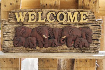Ceramic welcome signboard