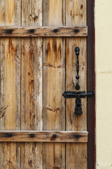 Retro wood wall with latch