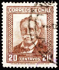 Postage stamp Chile 1931 Manuel Bulnes Prieto, President of Chil