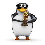 3d Penguin wins a Golden Penguin Oscar