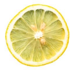 Долька лимона крупным планом