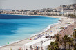 The French Riviera Cote d'azur Nice France beach on famous Prome