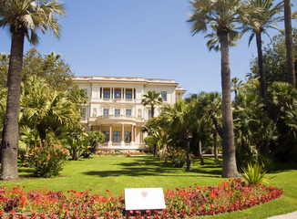 Musee Museum Massena  flower garden The French Riviera Nice Fran