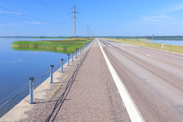 Causeway between Saaremaa island and Muhu island, Estonia